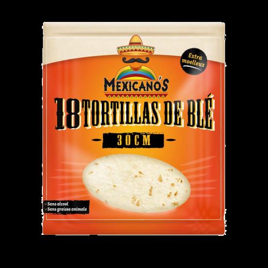 18 Tortillas de blé 30cm