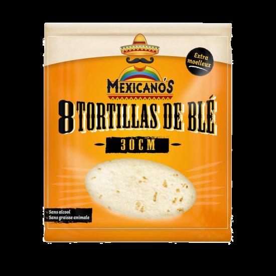 8 Tortillas de blé 30cm